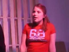 Adorable redhead teen Sage<br>