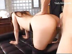 Stunning Girl In Sexy Lingerie Getting Her Pussy Fucked In The Office Cum To Mouth Swallowing<br>