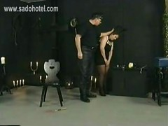 Naughty slave got pulled on