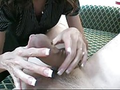 nylon blowjob