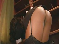 Horny maid fucking in her uniform<br>