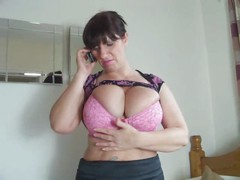 Hot british girl masturbates