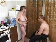 Mature Russian Mom seduces fat boy ( amateur granny mother milf granny olderwoman youngerman cumshot blowjob homemade )<br>