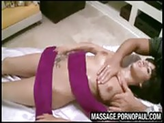 Pussy penetration at massage