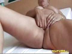 Horny mature slut Teresa loves playing with her toys<br>