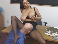 Teacher fucked in pantyhose -