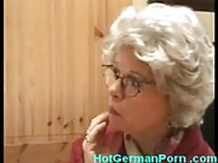 German grandmother catches boy masturbating and fucks him