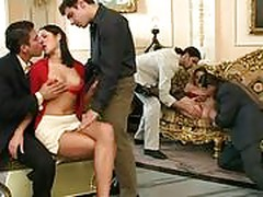 2 girls banged by 6 men