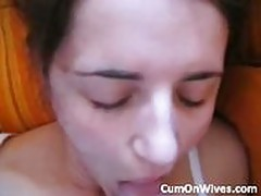 Amateur brunette sucks for