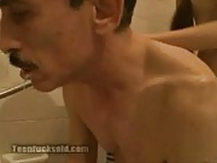 Teen fucks old grandpa