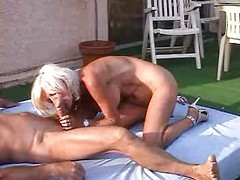 Insatiable Mature Eva Delage Tough Group Anal Sex Outdoors