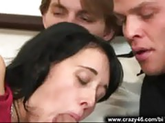 Bisexual threesome blowjob