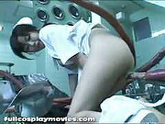 Busty asian nurse live action tentacle sex