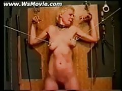 Blonde slave getting punished