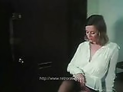 Hot secretary 80s retro fuck