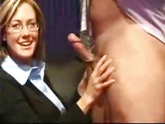Milf Amateur Business Wife With Glasses Homemade Blowjob<br>