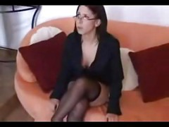 Babe Haley In Her Glasses And Stockings  SM65<br>