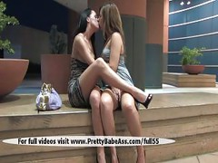 Two beautiful girls kissing