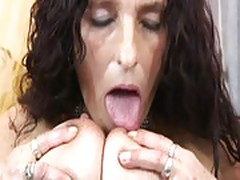 Mature long hair bigboobs latina granny getting dildo and fu