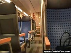 Amateur German Housewife Fuck and Facial on Subway