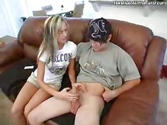 Brother and sister handjob<br>