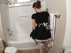 Fucking the maid in the bathroom<br>