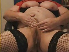 mature bbw masturbation with