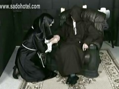 Beautiful slave nun got her