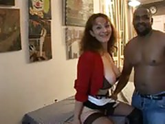 French mature, Celine, and black cock