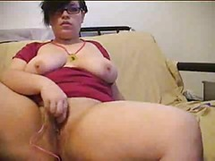 Sweet Bbw masturbating for Cam 2 of 2