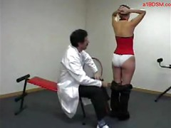 Girl Laying On A Doctor Lap