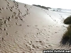 Public blowjob on beach