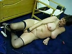 Mature whore Anja masturbating
