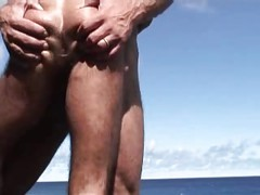 HAIRY HOTTIE'S ORAL SEX ON THE BEACH