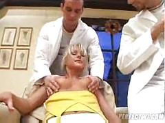 two french doctors abuse a  russian MILF