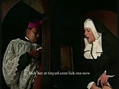 Nun gets ass fucked by a priest