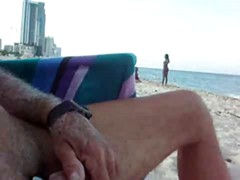 Jerk off on beach 2
