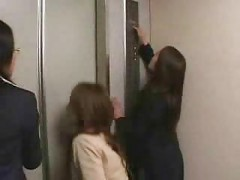 Asian gangbang in a elevator<br>