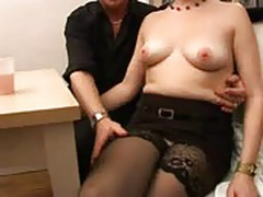 French mature in threesome