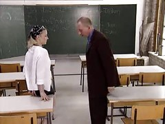 schoolgirl fuck her teacher in the classroom