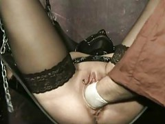 Horny tied slave with her