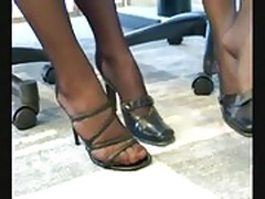 Secreteries pantyhose footsie