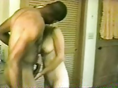 Skinny wife fucks black as husband films.