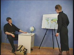 Russian mature teacher and