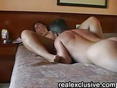 Mature amateur couple in 69 position