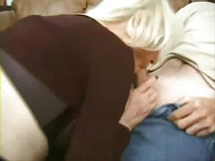 mature blond slut takes on 2