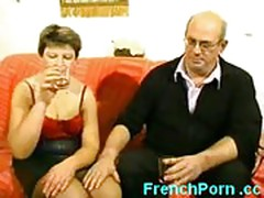 French men gangbang mature