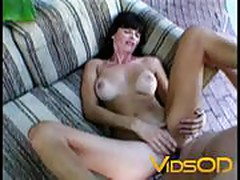 Brunette with big tits knows how to handle a big cock