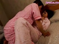 Asian Girl In Pijama Kissing